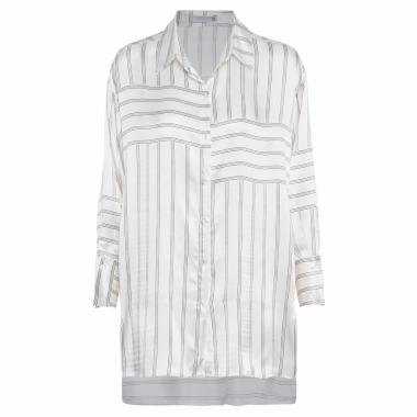 Camisa Feminina Recortes Costas - Off White