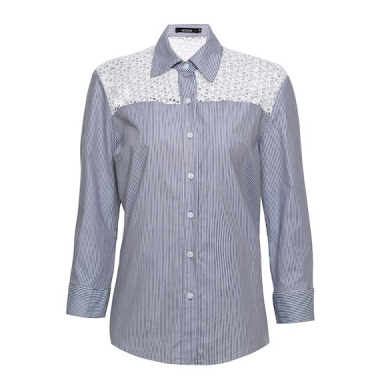 Camisa Listras Renda Juliana