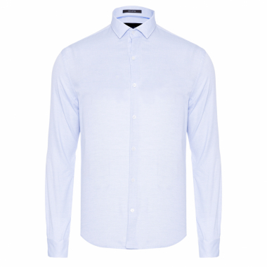 Camisa Masculina Dotted Pinpoint - Azul