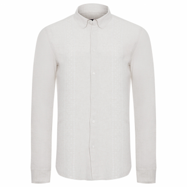 Camisa Masculina Fluid Linen - Off White
