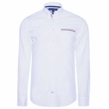 bb9986a0119 CAMISA MASCULINA GLOBAL STRIPE - BRANCO