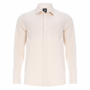 Camisa Masculina Row Cotton - Bege
