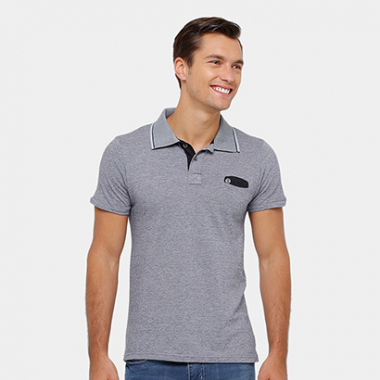 Camisa Polo Local Mesclada Masculina