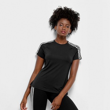 Camiseta Adidas Design 2 Move 3 Stripes Feminina-Feminino