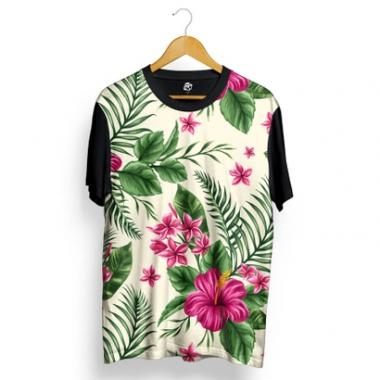 Camiseta BSC Flowers and Plants Full Print-Masculino
