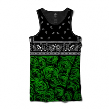 Camiseta BSC Regata Green Rose Bandana Full Print-Masculino