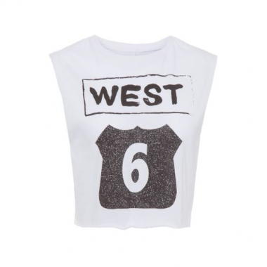 Camiseta Cropped West Market 33 - Branco