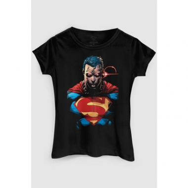 Camiseta Dc Comics Superman X-Ray Vision Colors Bandup!-Feminino