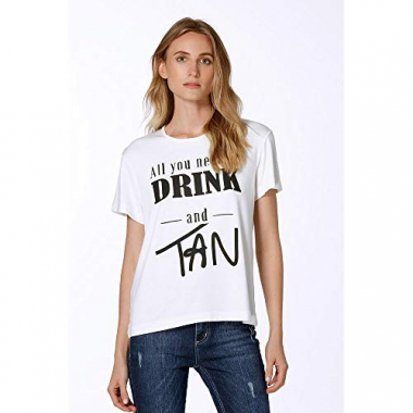 Camiseta Drink And Tan-Off White - Pp