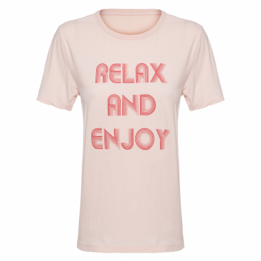 Camiseta Feminina Relax And Enjoy - Rosa