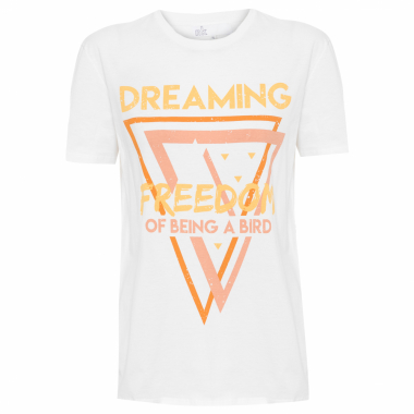 Camiseta Feminina Skin Silk - Off White