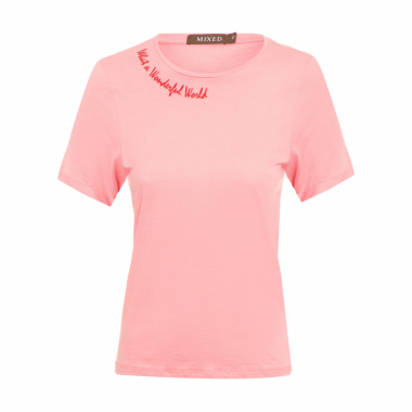 Camiseta Feminina World - Rosa