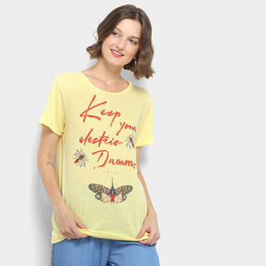 Camiseta Keep Your Eletric Dream Colcci Feminina-Feminino