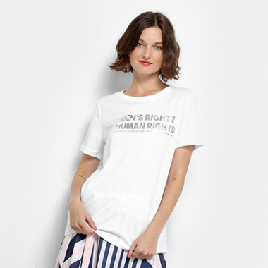 Camiseta Lança Perfume Women's Rights Feminina-Feminino