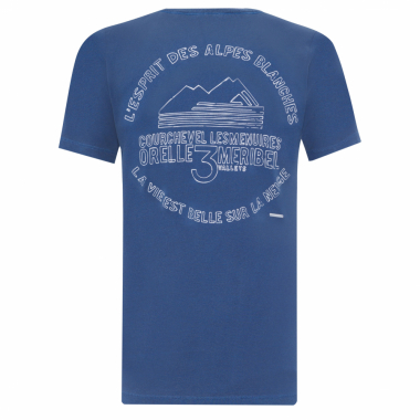 Camiseta Masculina 3 Valleys - Azul
