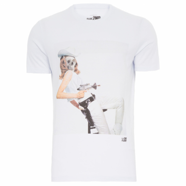 Camiseta Masculina Basic Space Cowgirl - Branco