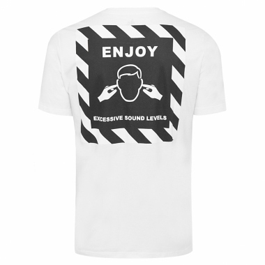 Camiseta Masculina Caution Loose - Branco