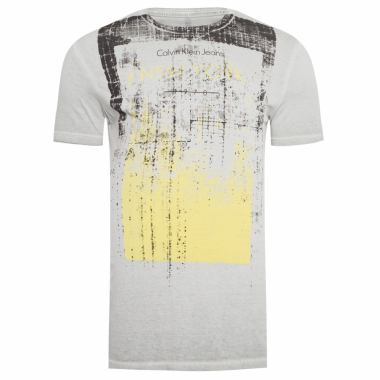 Camiseta Masculina Estampa New York - Cinza