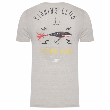 Camiseta Masculina Fishing Club - Cinza
