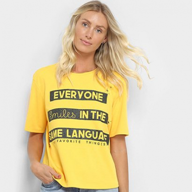 Camiseta My Favorite Thing(S) Estampada Feminina-Feminino