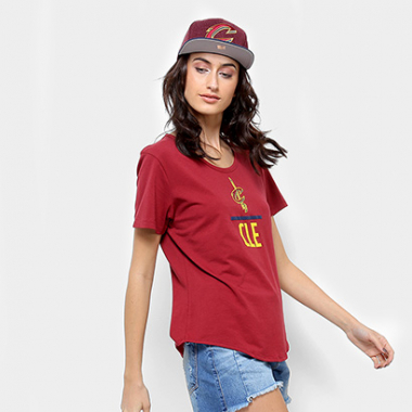 Camiseta Nba Under Armour Cavaliers Combine Feminina-Feminino