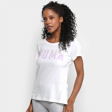 Camiseta Puma Athletic Feminina-Feminino