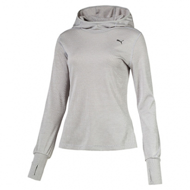Camiseta Puma Ignite Hooded Top Manga Longa Feminina-Feminino