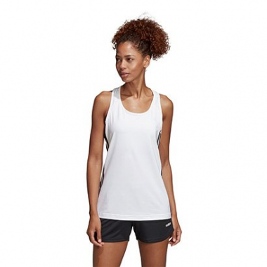 Camiseta Regata Adidas Design 2 Move 3 Stripes Feminina-Feminino