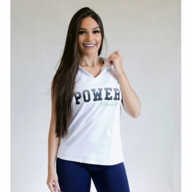 Camiseta Regata Fit Training Brasil C/ Capuz Power Feminina-Feminino