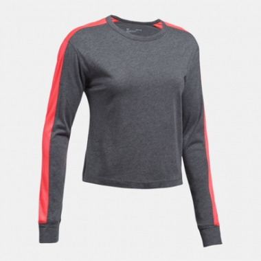 Camiseta Under Armour Favorite Mesh LS Graphic -Feminino