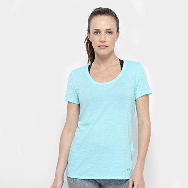 Camiseta Under Armour Streaker Feminina - Azul Piscina - M