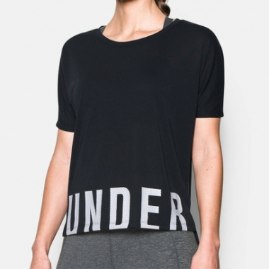 Camiseta Under Armour Threadborne Train Oversize-Feminino