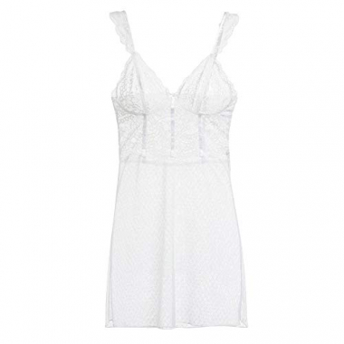 Camisola Loungerie Renda At Night Branco