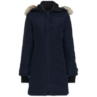Canada Goose Lorette Feather Down Cotton Blend Hooded Parka - Azul