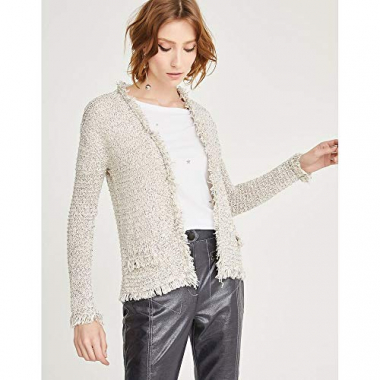 Cardigan Tricot-Off White-G