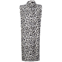 Carmen March Vestido Animal Print - Cinza