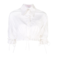 Carolina Herrera Camisa Cropped Oversized - Branco