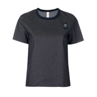 Carven Camiseta Com Patch - Cinza