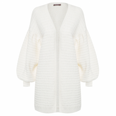 Casaco Feminino Tricot Basic Cool - Off White