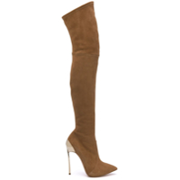 Casadei Bota Over The Knee Blade De Couro - Neutro