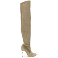 Casadei Bota 'blade' Over-The-Knee - Metálico