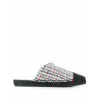 Castañer Slipper Raisa De Tweed - Azul