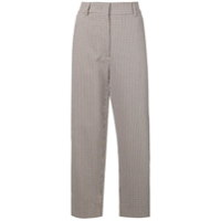 Cédric Charlier Checked Trousers - Preto