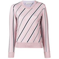 Cédric Charlier Striped Long-Sleeve Sweater - Rosa