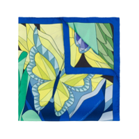 Cha•val Milano Butterfly Scarf - Azul