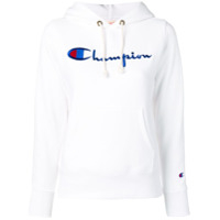 Champion Moletom Com Logo Bordado - Branco