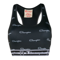 Champion Top Cropped Com Logo - Cinza