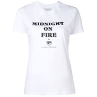 Chiara Ferragni Camiseta Midnight On Fire - Branco