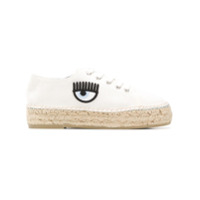 Chiara Ferragni Eye Detailed Espadrille Sneakers - Branco