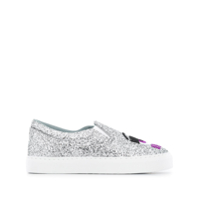 Chiara Ferragni Tênis Slip On I See You - Prateado